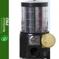Distributeur automatique de capsules Nespresso ® Pro monnayeur de 50 centimes d'euro