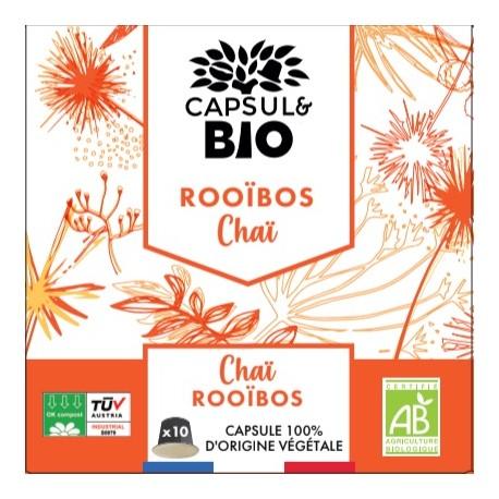 Organic Cinnamon Rooibos capsules Orange Nespresso ® compatible