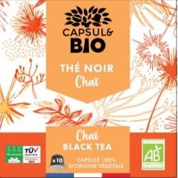 Capsules Bio Thé Noir Chaï compatibles Nespresso ®