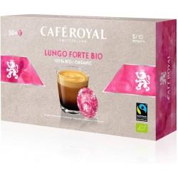 50 Capsules Café Royal Lungo Forte Bio compatibles Nespresso PRO ®
