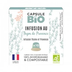 Thym de Provence Infusion Organic capsules compatible with Nespresso ®