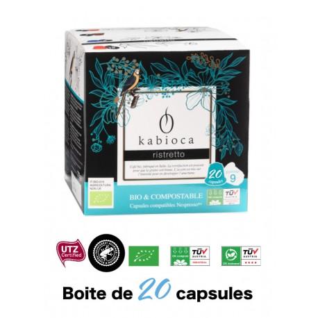 20 Capsules Ristretto Kabioca compatibles Nespresso ®
