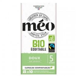 Capsules de café Bio DOUX compatibles Nespresso ® de Méo