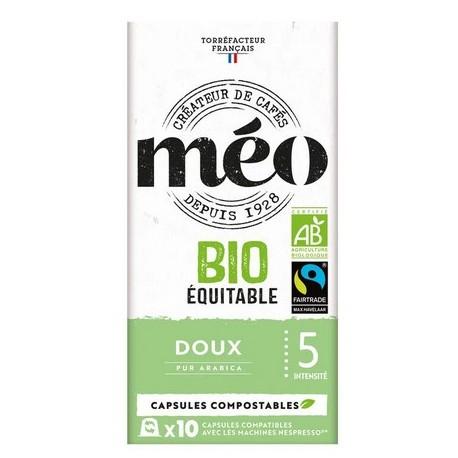 Capsules de café Bio Ambrée compatibles Nespresso ® de Méo