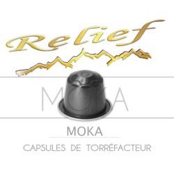 Ethiopie Moka Relief capsules compatible with Nespresso ®.