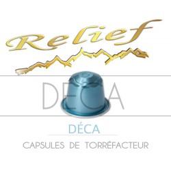 Capsules Relief compatibles Nespresso Déca