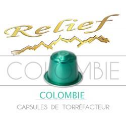 Capsules Relief Colombie compatibles Nespresso ®.