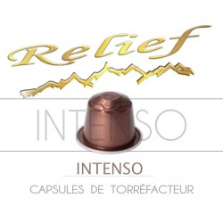 High intensity Relief coffee capsules, Nespresso® compatible.