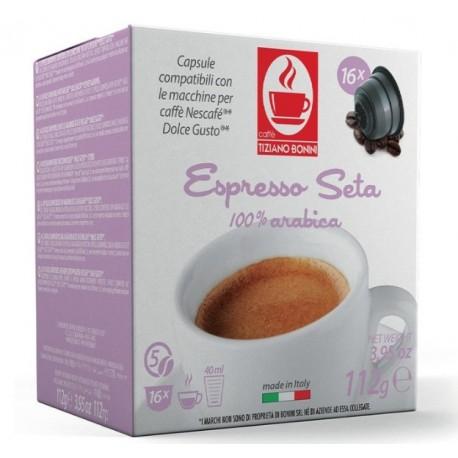 Capsules compatibles Dolce Gusto ® Seta de chez Caffè Bonini