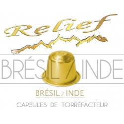 Capsules compatibles Nespresso ® Brésil / Inde RELIEF