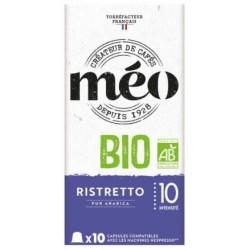 Ristretto BIO capsules compatibles Nespresso ® des cafés Méo