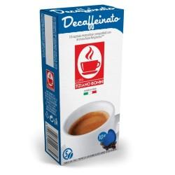 Decaffeinated coffee capsules, Nespresso® compatible.
