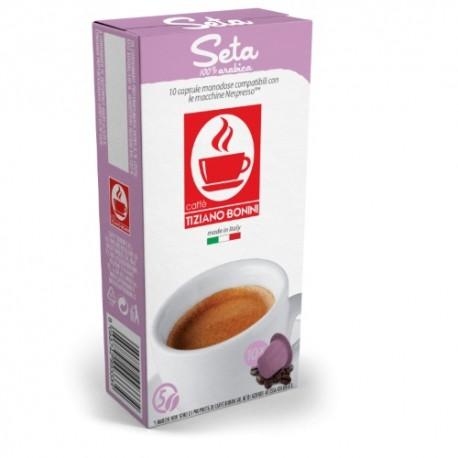 Seta capsules Caffè Bonini compatibles Nespresso ®