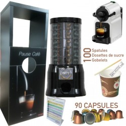 Meuble pour distributeur automatique de capsules