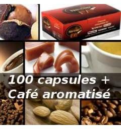 Pack Capsul'in 100 Café aromatisé