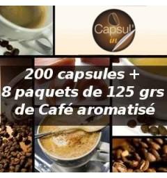 Pack capsul'in 200 Café aromatisé