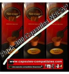 300 Ne-cap Nespresso compatible capsules (sticky lids)