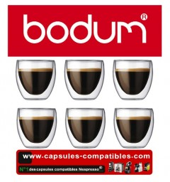 6 Double wall cups Bodum