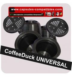 4 compatibles capsule Black coffeeduck
