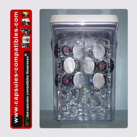 Boite de rangement étanche pour capsules compatibles Nespresso®