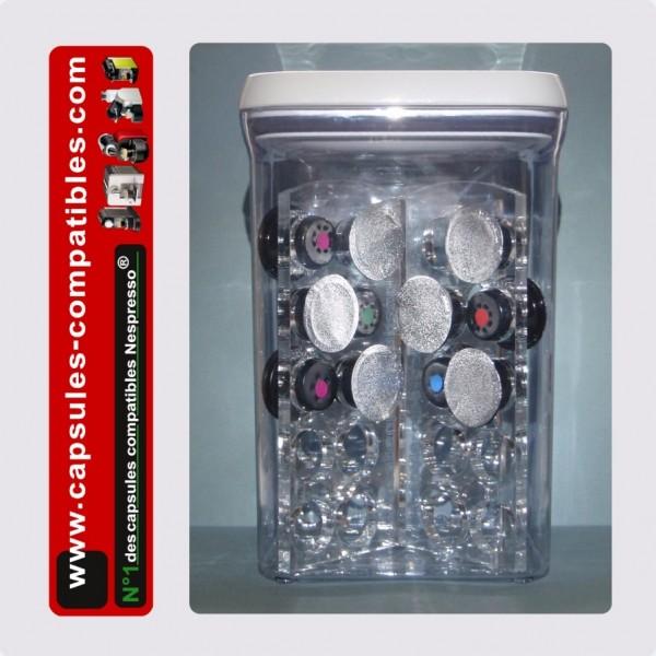 boite de rangement tanche pour capsules compatibles nespresso. Black Bedroom Furniture Sets. Home Design Ideas