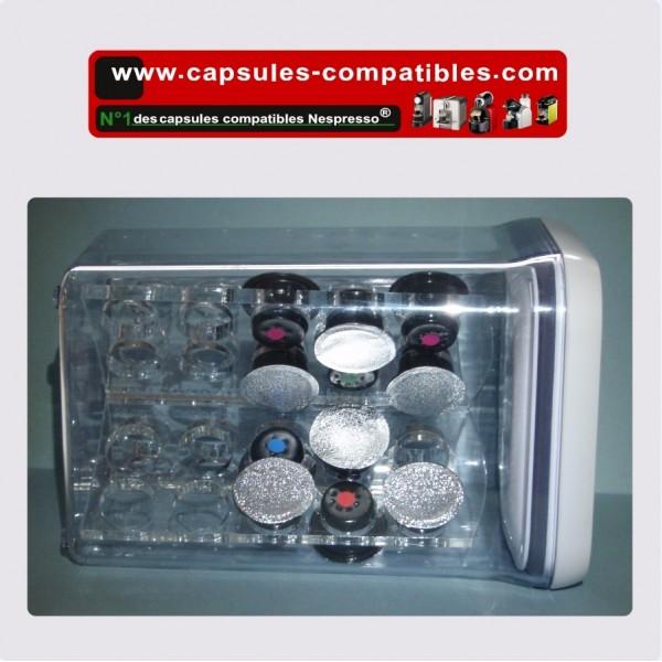 boite de rangement tanche pour capsules compatibles. Black Bedroom Furniture Sets. Home Design Ideas