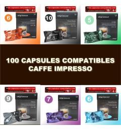 Pack 100 Caffè Impresso
