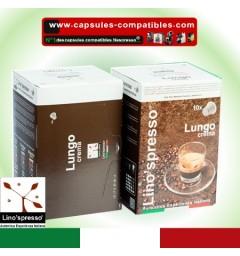 Capsules compatibles Lungo crema Lino'spresso