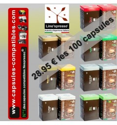 100 Capsules compatibles Lino'spresso