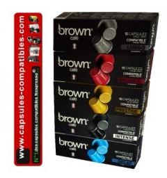 100 Capsules BROWN compatibles Nespresso®