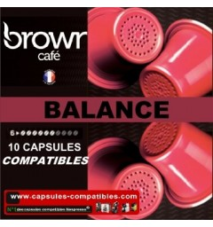 Balance compatibles capsule Nespresso of the brand Brown