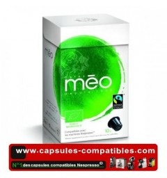 Organic Fairtrade by Méo, Nespresso® compatible coffee capsules.