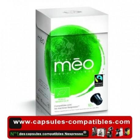 Capsules Méo Biologique équitables compatibles Nespresso