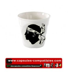 Revol crumpled cup with flag Corsica