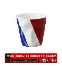 Revol crumpled cup with French flag