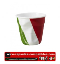 Revol crumpled cup with Italian flag