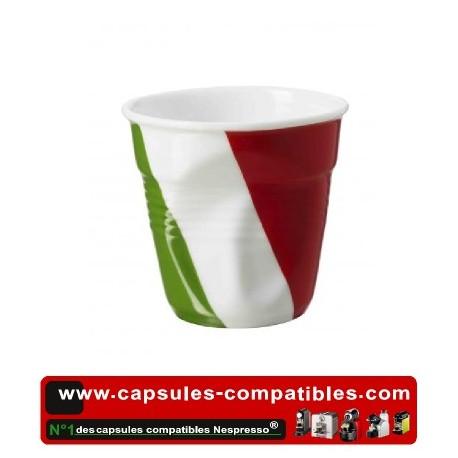 Tasse Révol froissée avec drapeau Italien