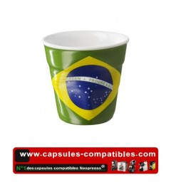 Revol crumpled cup with Brazilian flag
