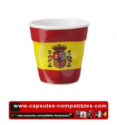 Revol crumpled cup with the Spanish flag