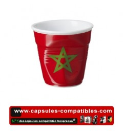 Revol crumpled cup with the Moroccan flag