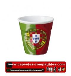 Tasse Révol froissée avec le drapeau Portugais