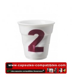 Revol crumpled cup with number 2