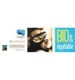 Bio & Equitable capsules Brown compatibles Nespresso®