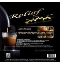 Hazelnut by Relief, Nespresso® compatible coffee capsules.