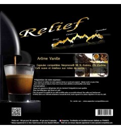 Vanilla by Relief, Nespresso® compatible coffee capsules.