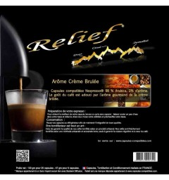 Crème brulée by Relief, Nespresso® compatible coffee capsules.