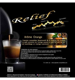 Orange by Relief, Nespresso® compatible coffee capsules.