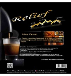 Caramel by Relief, Nespresso® compatible coffee capsules.