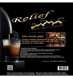 Roasted almonds by Relief, Nespresso® compatible coffee capsules.