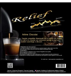 Chocolate by Relief, Nespresso® compatible coffee capsules.